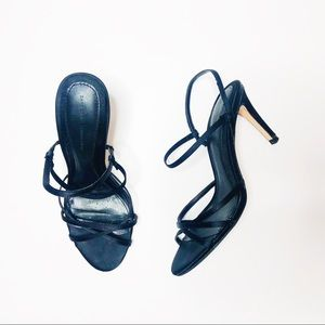 Zara black strappy heels